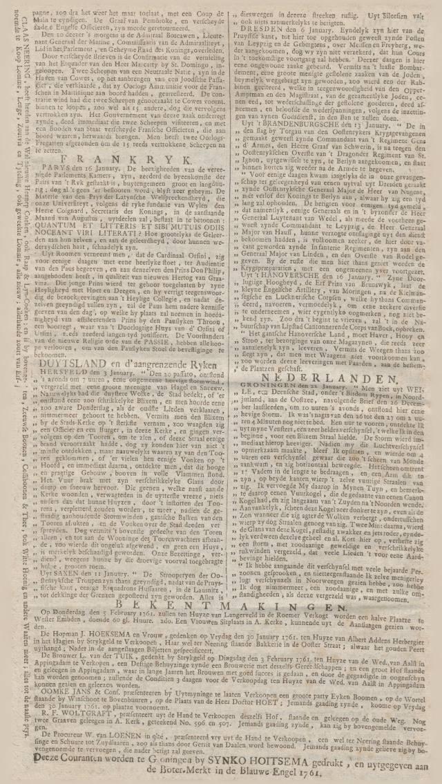 Periódico danés del siglo XVIII describe un avistamiento OVNI
