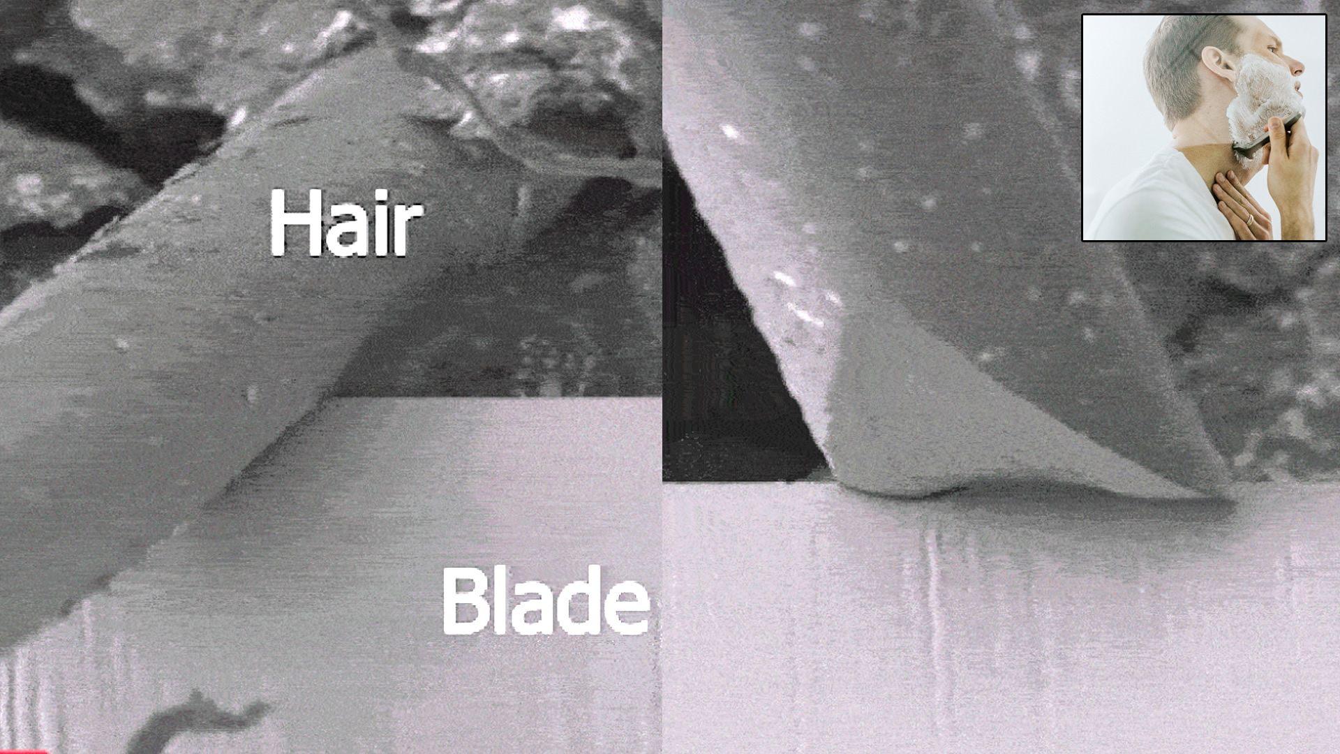 Así es como tu cabello suave y barba arruinan hasta las navajas de acero más afiladas (VÍDEO)