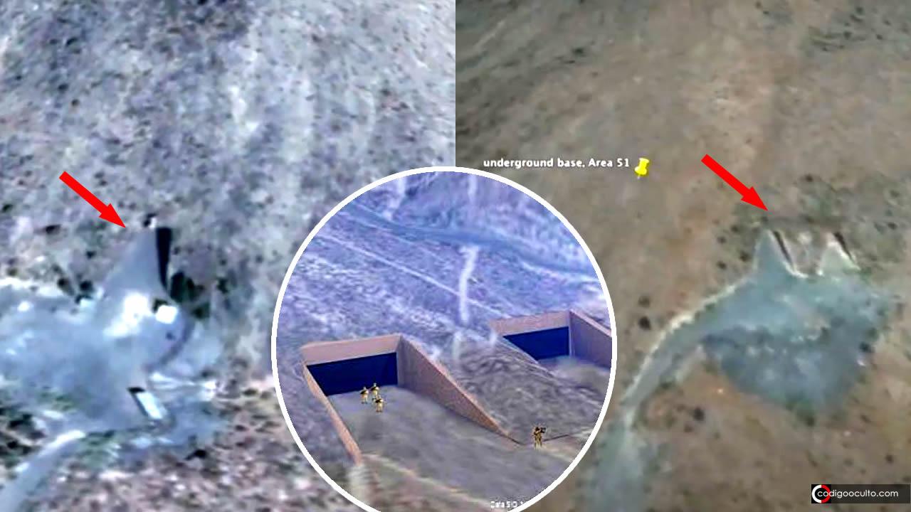 Descubren posibles entradas a base subterránea en Área 51 en imágenes satelitales (VÍDEO)