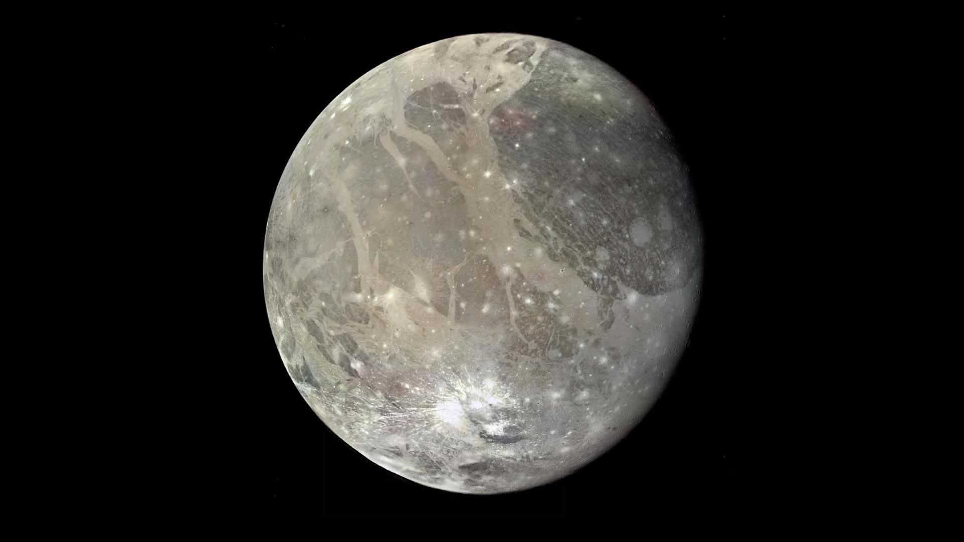 Estructura de impacto más grande del sistema solar puede haber sido encontrada ¡en Ganímedes!
