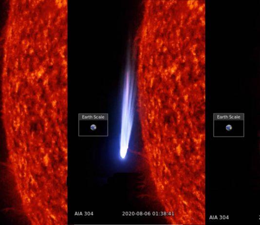 Extraña y enorme «anomalía» OVNI es captada cerca del Sol