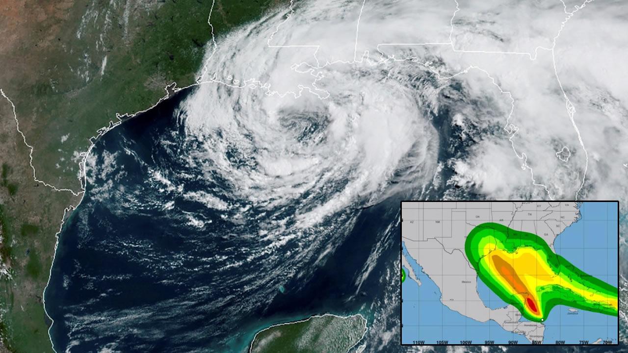 Huracán doble podría golpear Golfo de México. Por primera vez en la historia