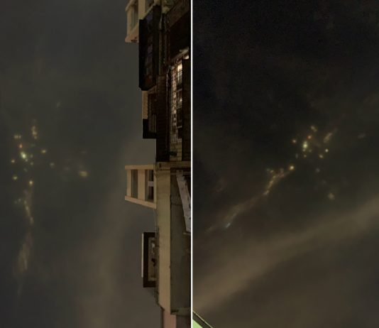 Luces de colores aparecen en el cielo nocturno de China causando temor en población
