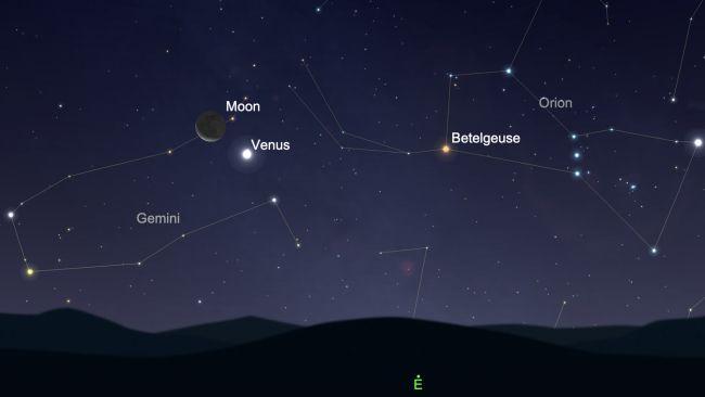 Mira a Venus y la Luna muy juntos en el cielo este sábado temprano