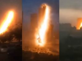 ¿Qué ocurrió en China? Un extraño «rayo» explota en el aire