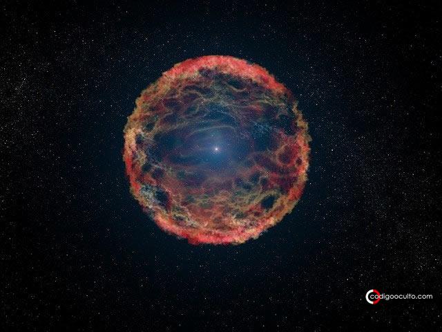 Supernova a 65 años luz pudo causar una extinción en masa hace 359 millones de años