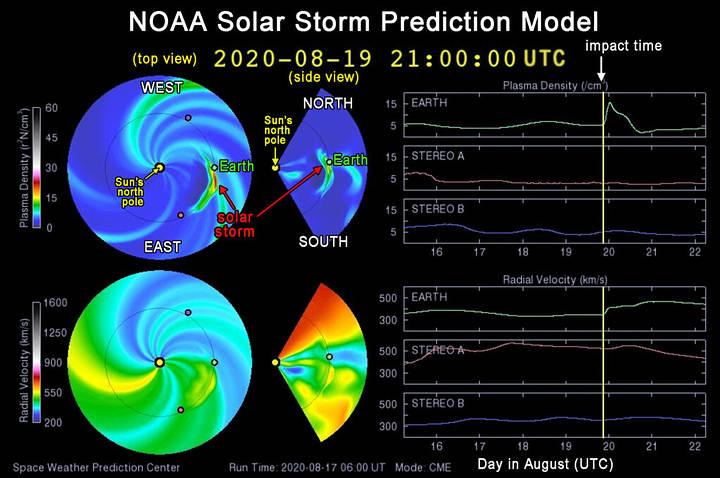 Tormenta solar podría golpear la Tierra este jueves y viernes