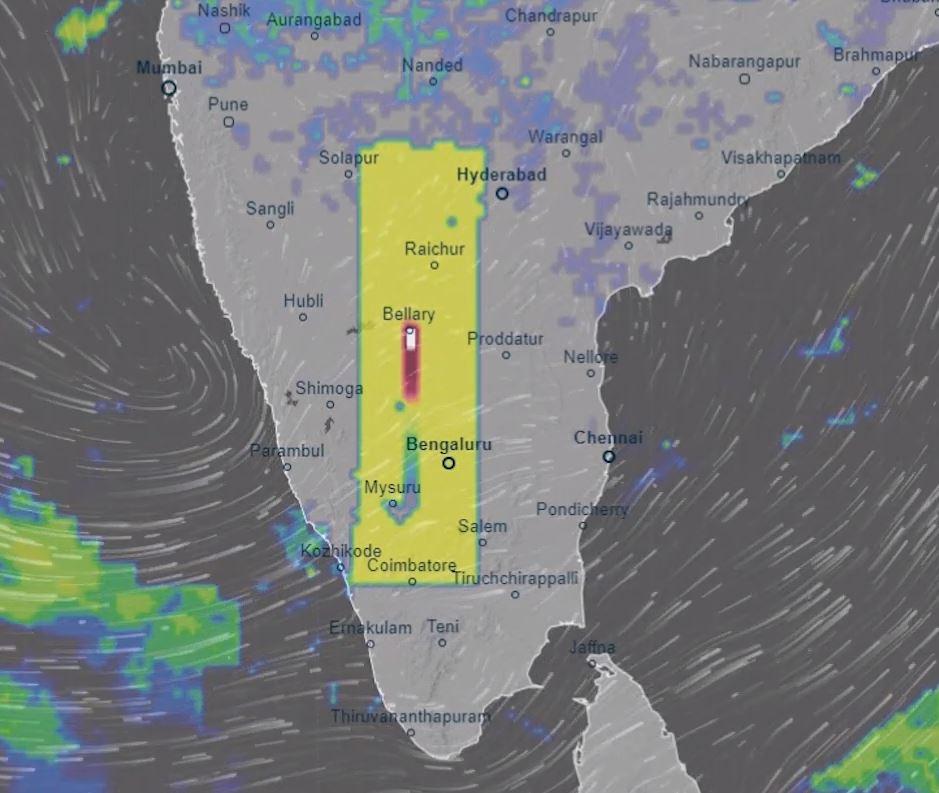 Nueva anomalía, esta vez de 750 kms de longitud, aparece sobre India