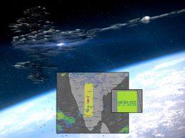 Nueva anomalía con posible «código», esta vez de 750 kms, aparece sobre India