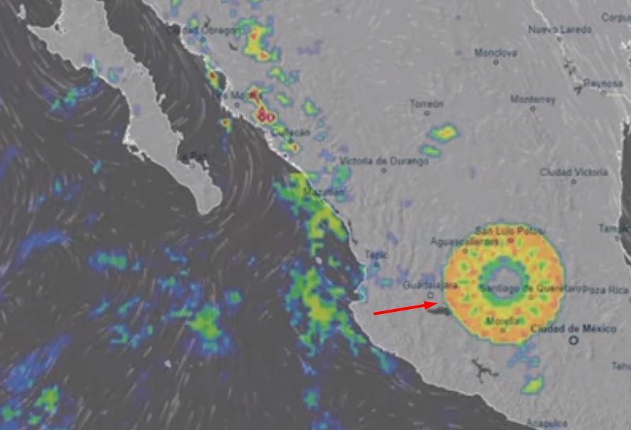 Anomalía gigantesca de 300 km apareció sobre México, y no fue la única