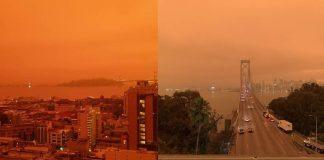Cielo rojo «apocalíptico» y lleno de humo cubre área de San Francisco