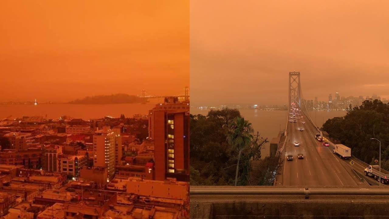 Cielo rojo «apocalíptico» y lleno de humo cubre área de San Francisco (VÍDEO)