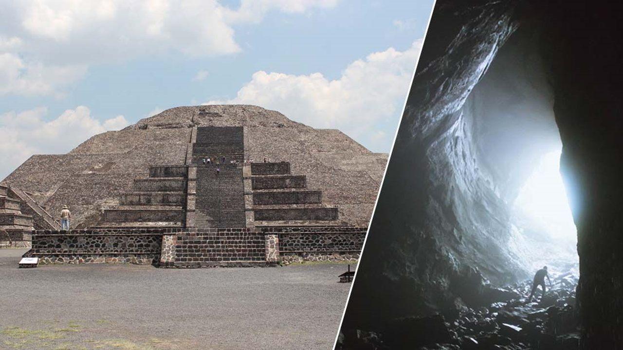 El Pasaje hacia el Inframundo hallado bajo la Pirámide de la Luna en Teotihuacán