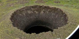Explosión abre enorme cráter de 50 metros de profundidad en el Ártico de Siberia