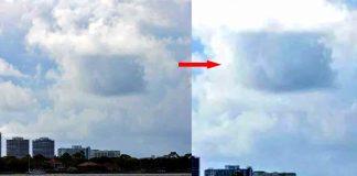 Gigantesca anomalía «cuadrada» aparece entre las nubes en Florida
