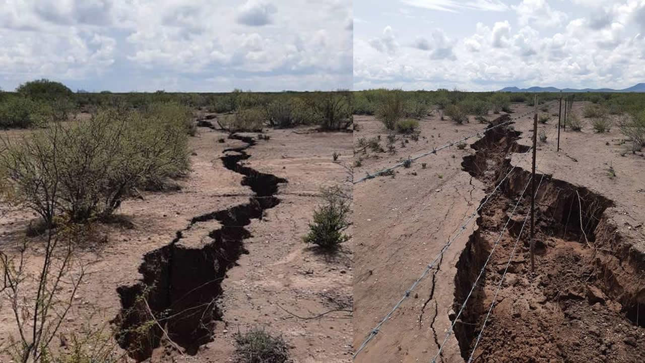 Gigantesca grieta se forma en Chihuahua (México). Temor ante posible terremoto (VÍDEO)