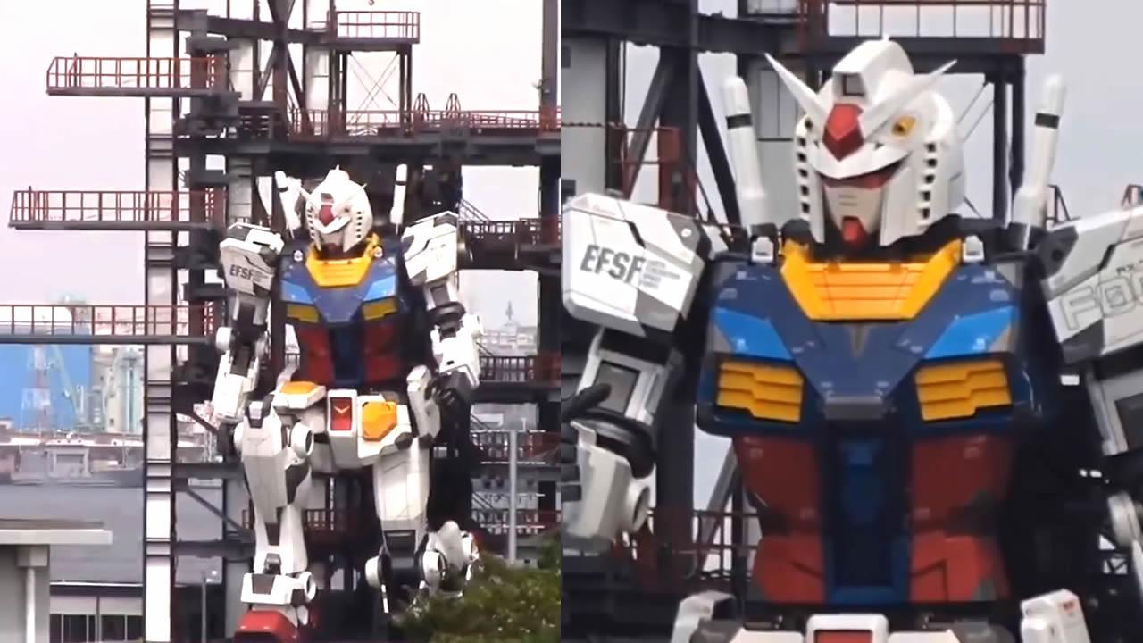 Robot gigante de 18 metros logra dar varios pasos y se arrodilla (VÍDEO)