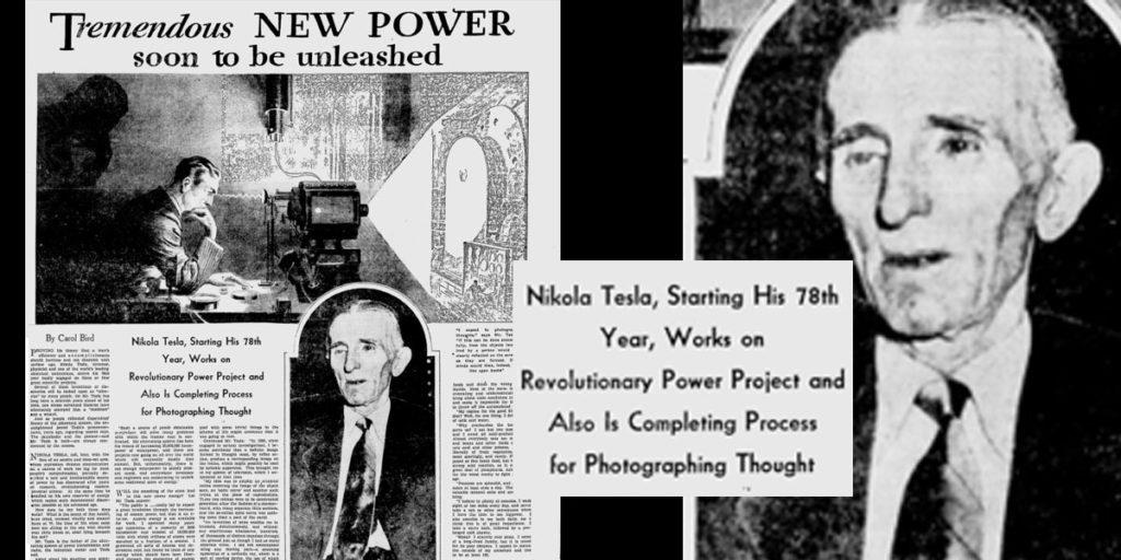 La Idea más salvaje de Nikola Tesla: «Cámara de pensamientos» Der Gedankenprojektor