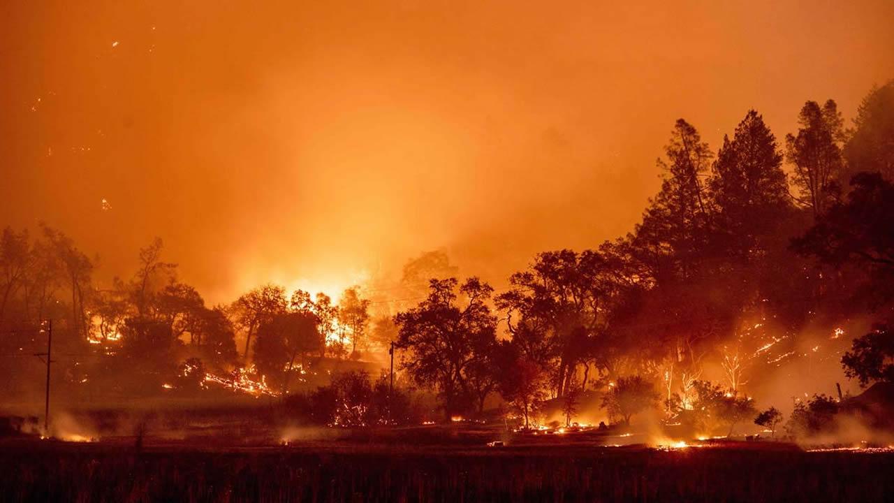 Incendios forestales siguen arrasando California. Decenas de miles tienen que evacuar