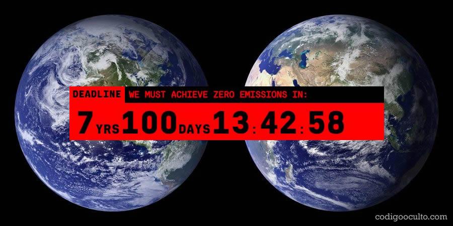 Reloj climático en New York muestra el tiempo que queda para evitar los efectos irreversibles del cambio climático