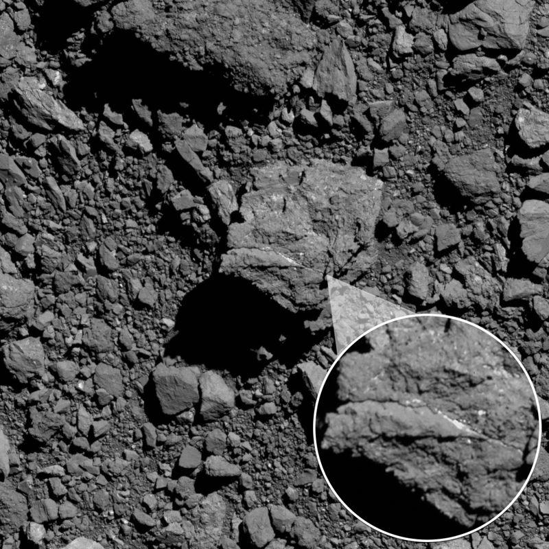 Nave espacial descubre evidencia de ríos antiguos en el asteroide Bennu