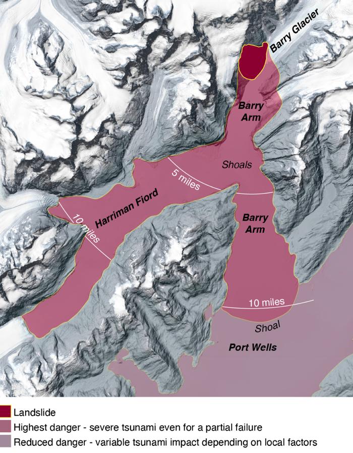 Terremoto de 7.5 sacudió Alaska mientras mega-tsunami amenaza desatarse por derretimiento del hielo
