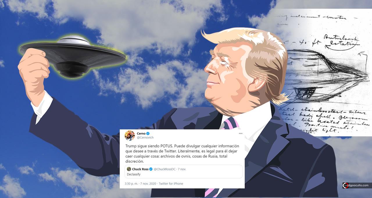 ¿Desclasificará Trump los «archivos secretos» OVNI?