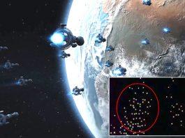 """Captan ENORME flota de """"No Identificados"""" volando cerca de la Estación Espacial Internacional"""