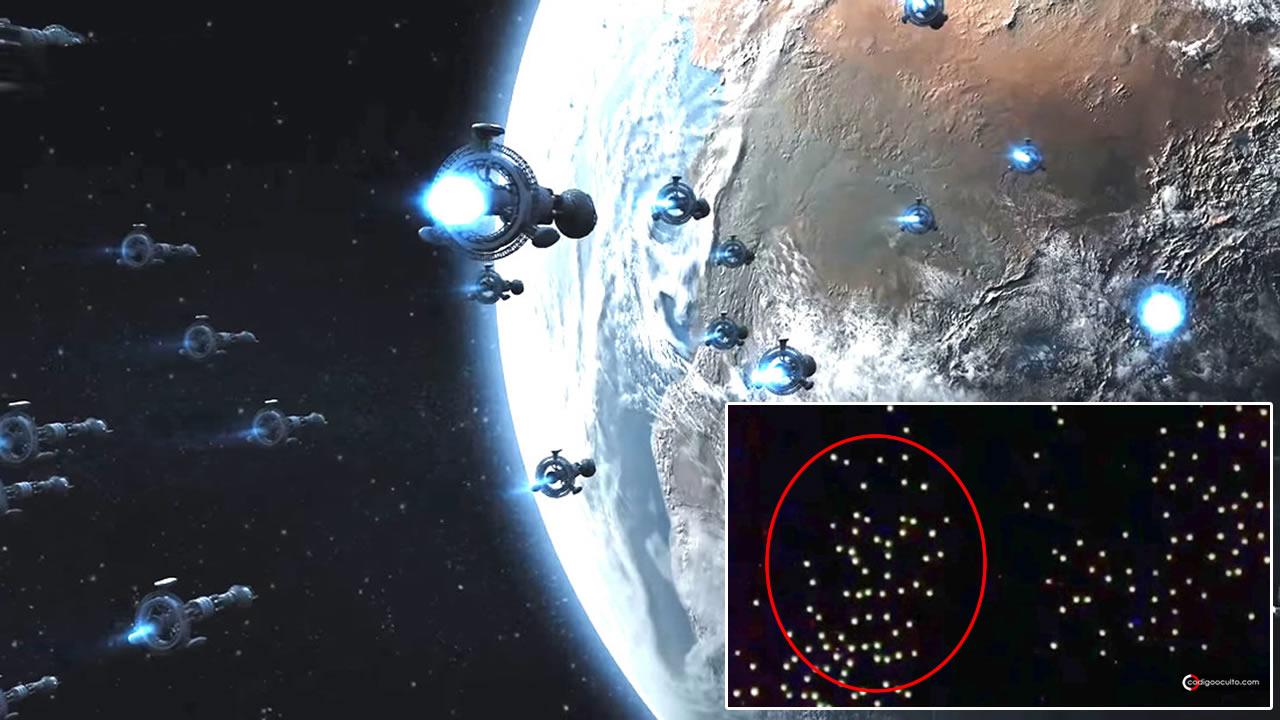 """Captan ENORME flota de """"No Identificados"""" volando cerca de la Estación Espacial Internacional (VÍDEO)"""