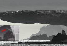 ENORME nave «rocosa» es grabada mientras atraviesa el cielo
