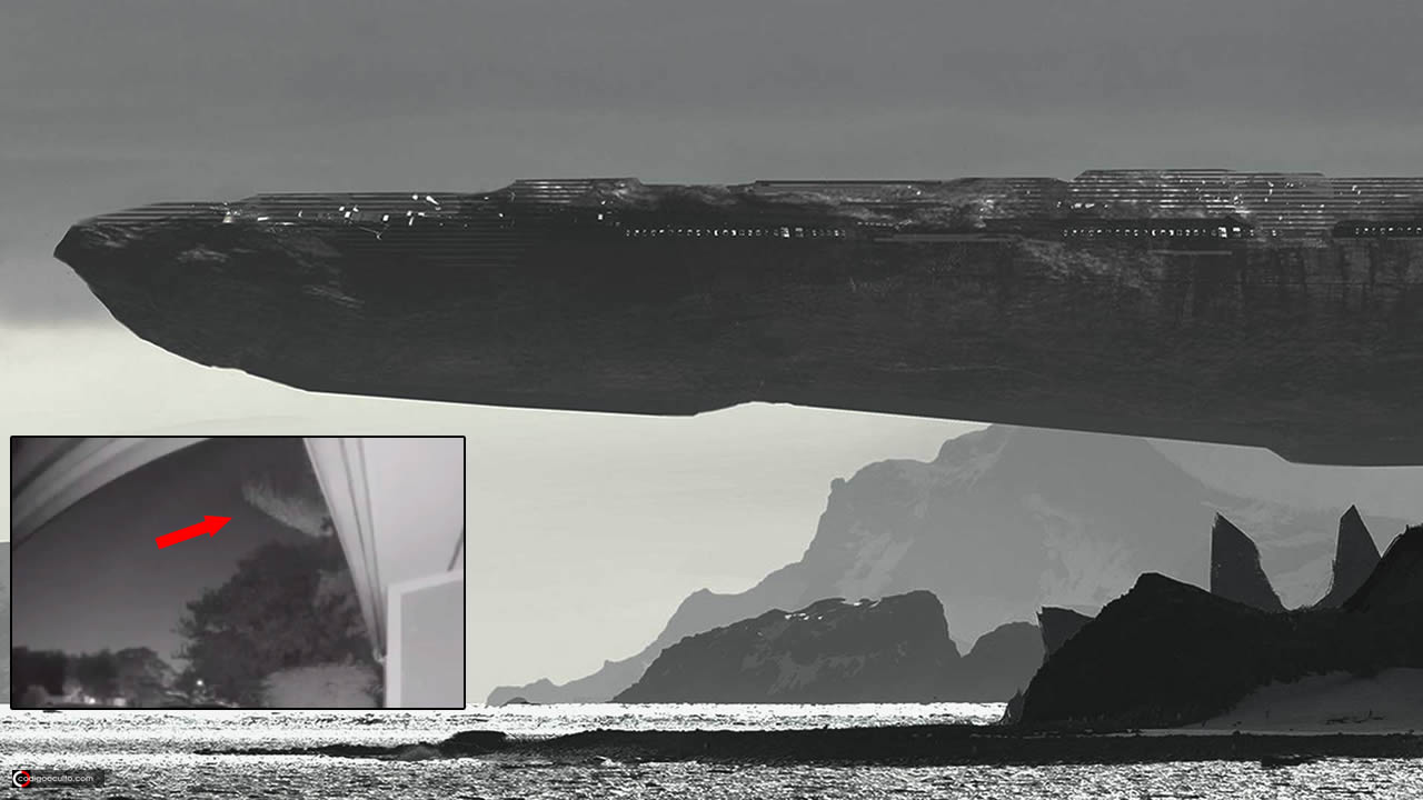 ENORME nave «rocosa» es grabada mientras atraviesa el cielo (VÍDEO)