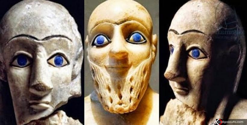 Antiguas estatuas sumerias con grandes ojos azules: el legado de los dioses