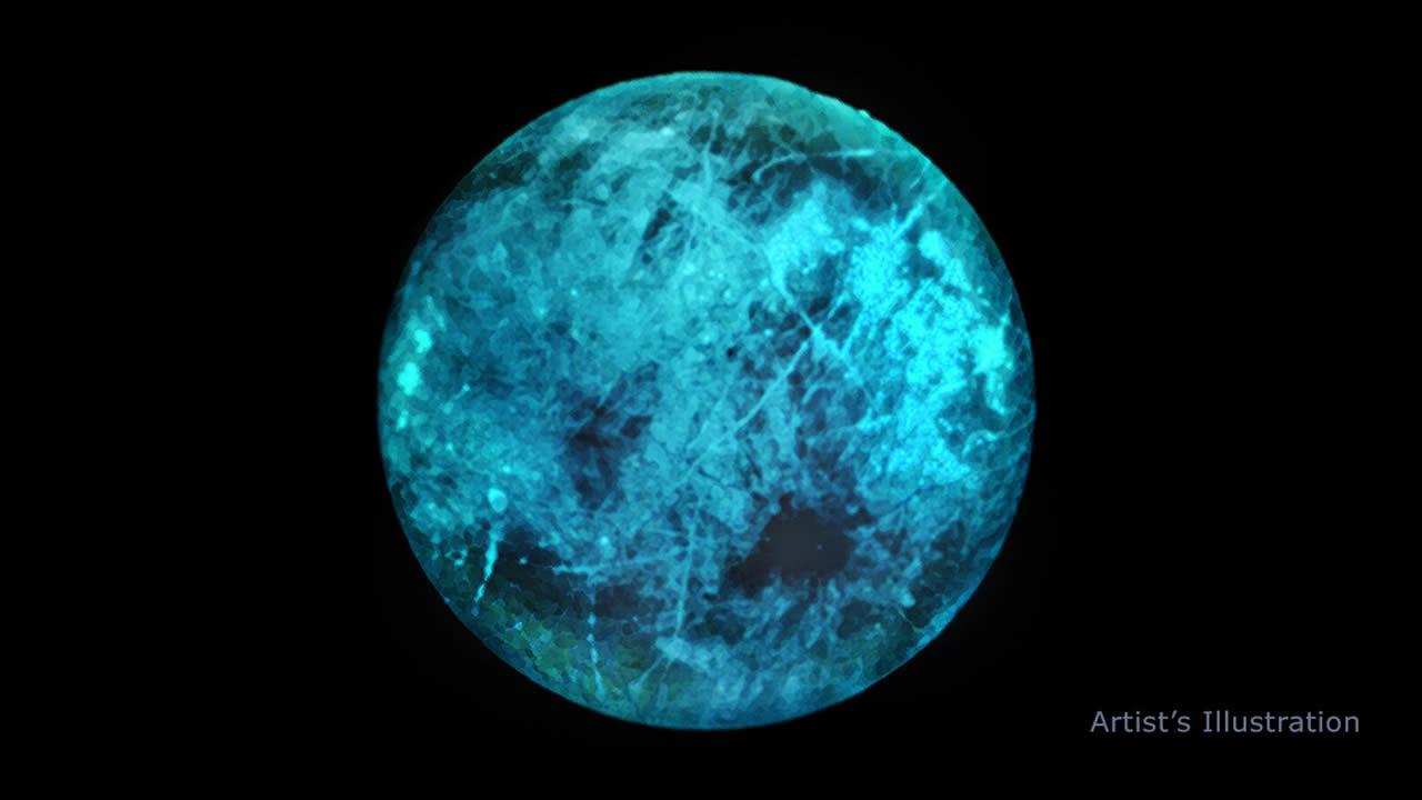 Europa, luna helada de Júpiter, brilla en la oscuridad (VÍDEO)