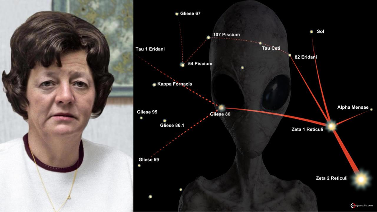 Ella fue abducida y dibujó el mapa de una constelación alienígena