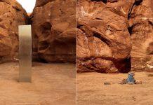 Misterioso «monolito» de Utah ha desaparecido y en su lugar colocan rocas y un «mensaje»
