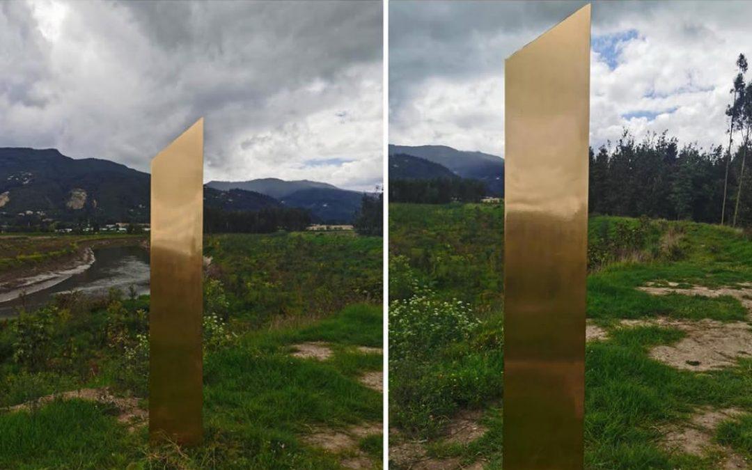Reportan aparición de un cuarto monolito. Ahora es dorado y está en Colombia (VÍDEO)