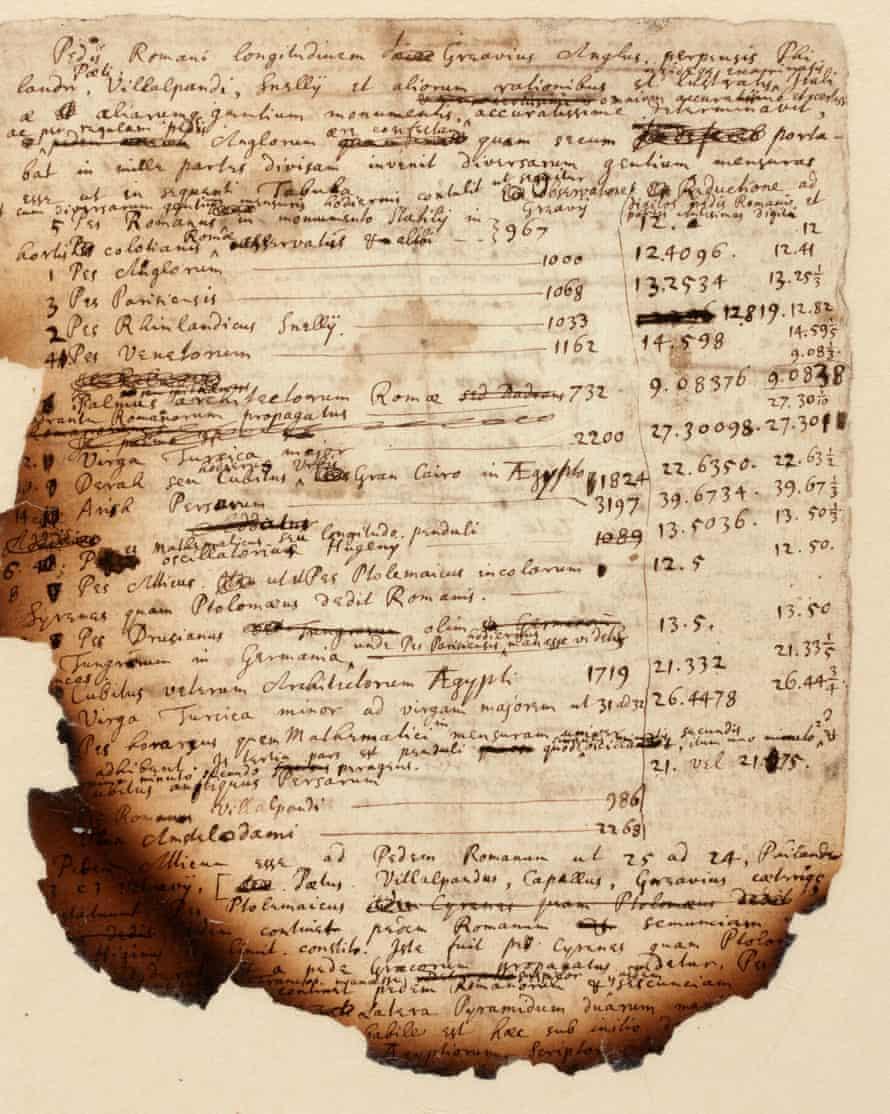 Notas de la «Gran Pirámide» quemadas revelan investigación de Isaac Newton sobre el Apocalipsis