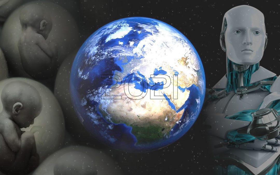 Predicciones de gente de todo el mundo para el año 2021: desde clonación humana a robots casi humanos