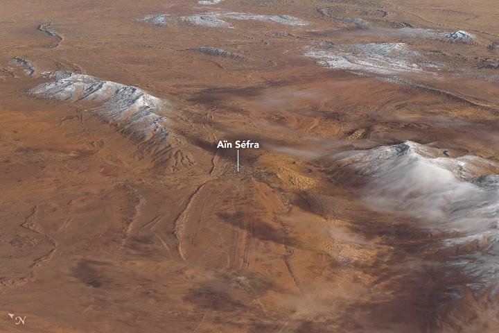 Hielo cubre el desierto del Sahara por cuarta vez en 50 años