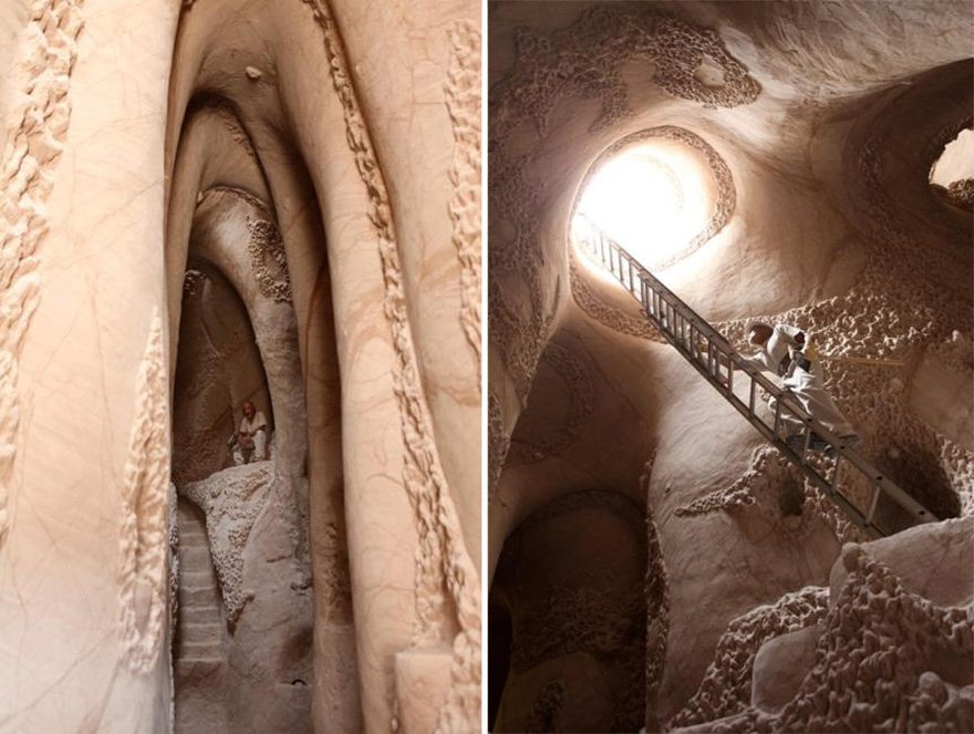 """Hombre pasó 25 años en una cueva, y creó una """"maravilla"""" dentro"""