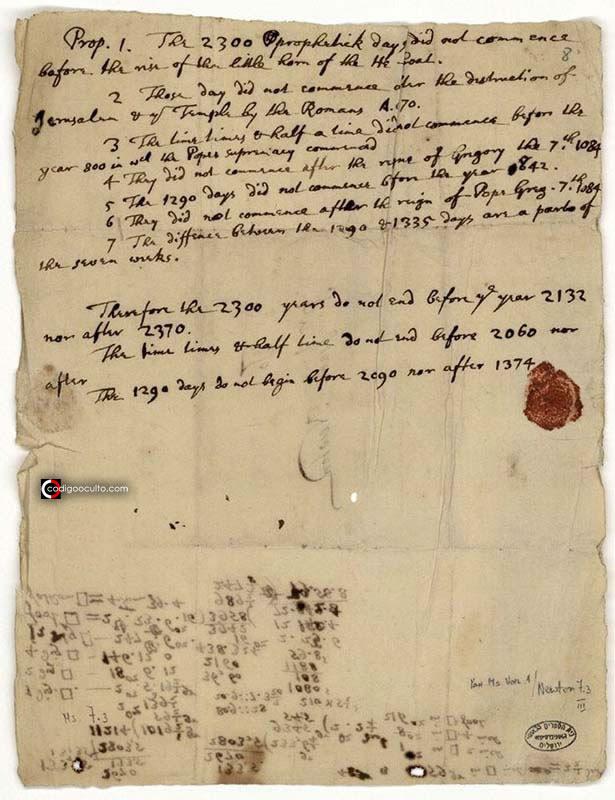 Isaac Newton predijo el «apocalipsis» para el año 2060