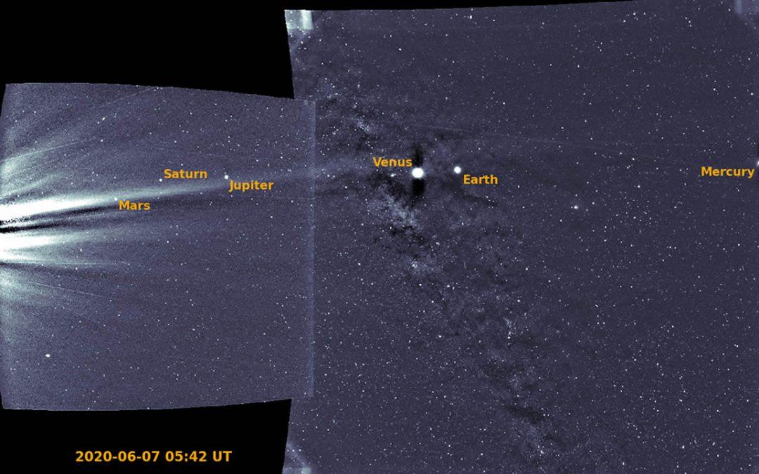 Mundos del Sistema Solar brillan en imágenes de tres sondas estelares diferentes