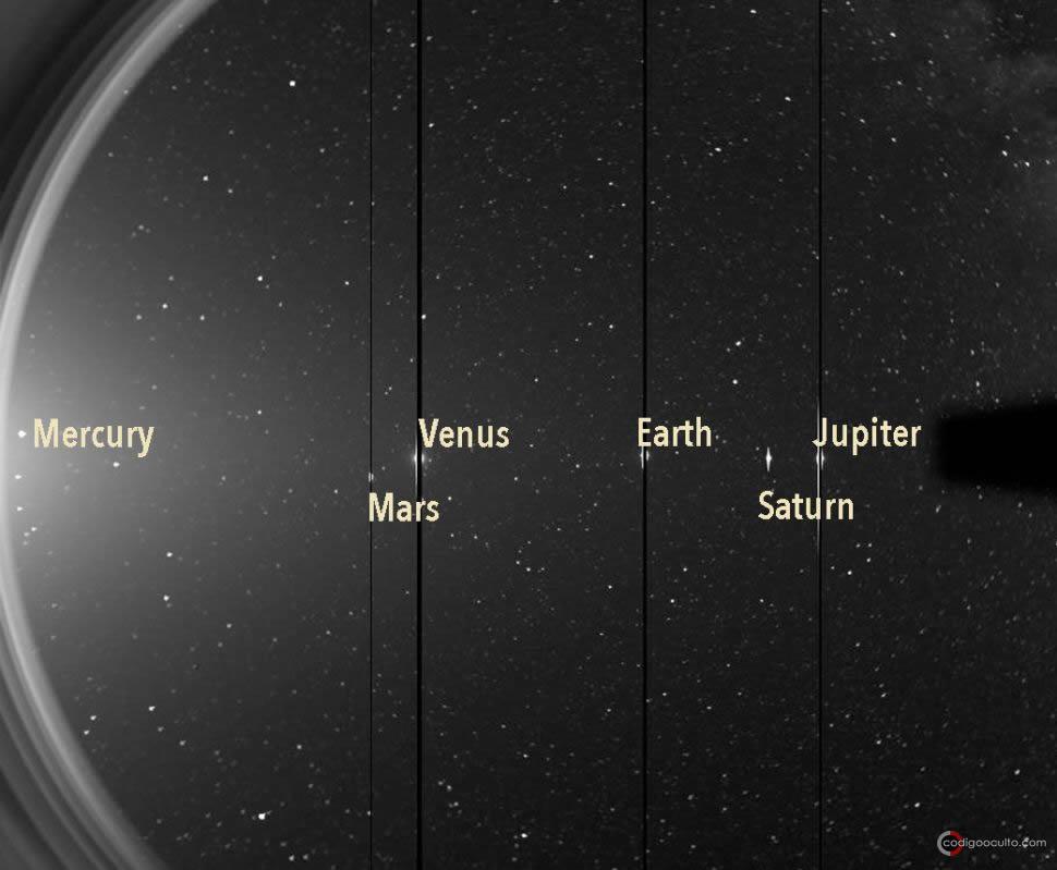 Mundos del Sistema Solar brillan en 3 imágenes de sondas estelares diferentes