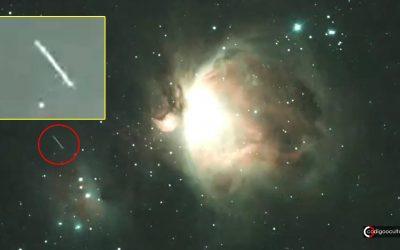 Observador captura OVNI pasando por la Nebulosa de Orión (VÍDEO)