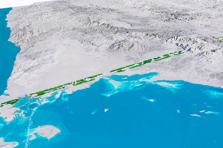 The Line: Arabia Saudita está construyendo una ciudad con cero emisiones de carbono y con forma lineal