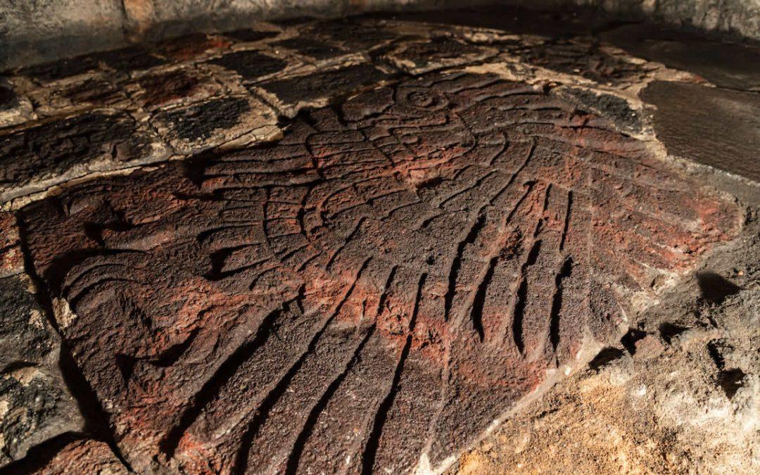 Antigua águila gigante tallada fue encontrada en el centro de capital azteca