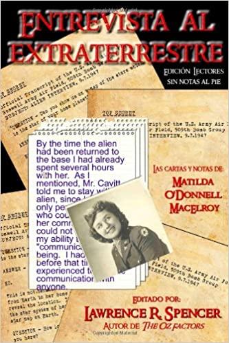 """Portada del libro """"Entrevista al Extraterrestre"""" de Lawrence R. Spencer."""