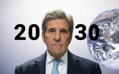 John Kerry dice que solo quedan 9 años para evitar una catástrofe climática