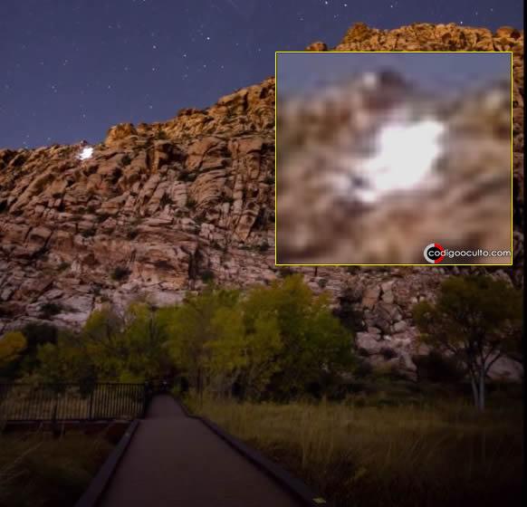 Objeto luminoso captado en vídeo en Red Springs