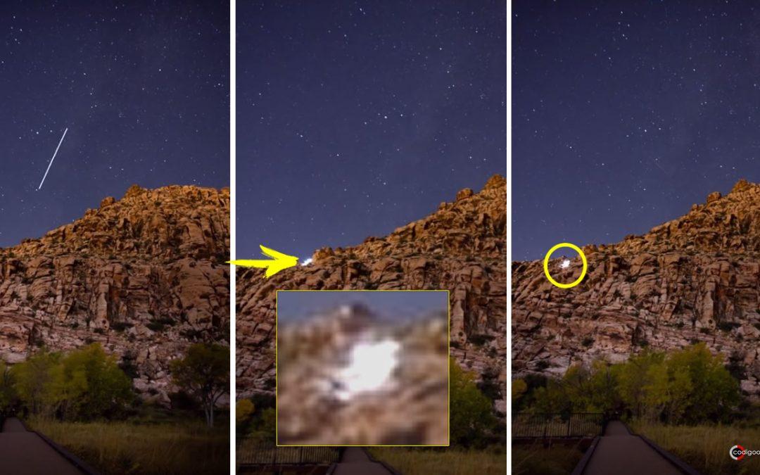 Extraño objeto brillante es captado sobre Red Springs luego del paso de un rayo de luz (VÍDEO)